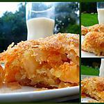 recette Roulé aux pèches et aux poires... façon Strudel