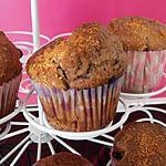 Muffins au nutella et pepites de chocolat à la noix de coco