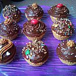 recette Cupcakes Beurre de Cacahuètes nappage Philadelphia Milka brisures de M&M'S