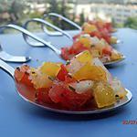 recette duo de tomates concassées au basilic