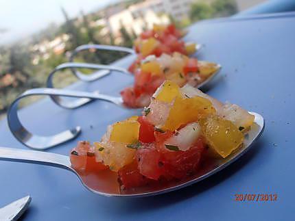 Duo de tomates au basilic et la mozzarella - Comment couper le basilic ...