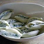 recette Conchiglioni farcis aux fines herbes et au fromage