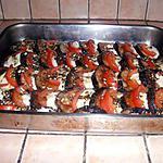 recette Aubergine grillé, tomate, mozzarella