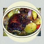 recette Joues de porc et pommes de terre confites au four