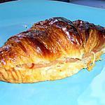 recette Croissant au jambon et fromage
