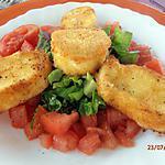 recette tartare de tomates du jardin aux deux panés