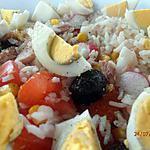 recette salade de riz vacancière