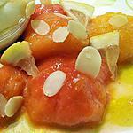 Pêches rôties au miel et citron