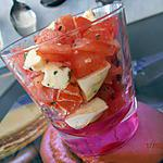 recette salade de tomates et mozzarella version verrine