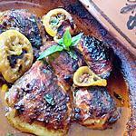 recette Tajine de poulet au miel citron et basilic