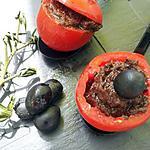 recette Tomates cerises farcies à la tapenade d'olives noir et basilic