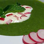 recette soupe de fanes de radis au chèvre