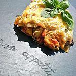 Lasagnes aux légumes du soleil et basilic à la créme de parmesan