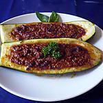 recette Courgettes farcies à l'orientale