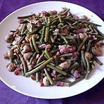 Poêlée haricots/lardons/champignons/jambon