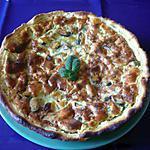 Quiche moule/crabe/basilic