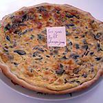 Quiche foie gras/poulet/champignons