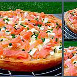 recette Tarte à la féta et saumon fumé à la carbonara