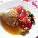 recette Poulet aux deux olives