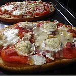 recette Bruschetta tomate, chèvre, jambon