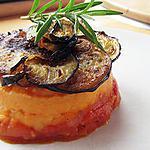 recette Parmentier de patate douce, tomate et aubergine
