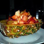 recette Salade de fruit frais au gingembre et citron vert.