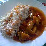 recette riz poulet aigre douce