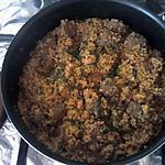 recette bourgourt avec des boulettes de viande haché