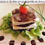 recette Betteraves à la féta et émulsion de vinaigrette au vinaigre de framboises