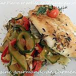 recette Saint Pierre et poêllée de légumes du soleil