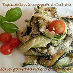 recette Tagliatelles de courgettes à l'ail frit
