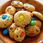 recette Cookies aux M&M's cacahuètes