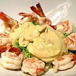 recette Cocktail de crevettes royales avec mayonnaise à l'ail