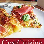 recette Tarte fine aux courgettes, basilic et jambon Serrano