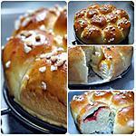 recette Brioche Nid d'abeille : Buchty, confiture fraise et abricot sans sucre