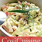 recette Salade à tartiner Poulet Estragon