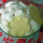 recette fruits à la chantilly, décor gelée