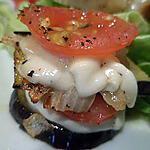 recette pyramide aubergine, tomate, mozzarella