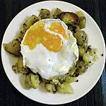 recette Pommes de terre sautées avec oeuf au plat version légère