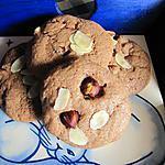 recette Cookies chocolat, noisettes et amandes effilées