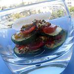 recette millefeuille de légumes grillés au pesto de pistaches