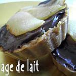 recette Tartelettes Poires/Chocolat sur fond de Tarte aux Spéculoos (sans four)