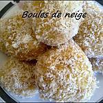 recette Boules de neige à la coco :