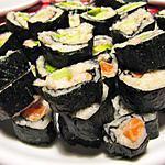 recette Makis concombre, saumon, crevettes, avocat