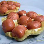 recette mini tatin salée saveur hot dog (réception)