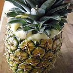 recette Ananas fourré à la crème patissière et au zeste de citron