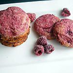 recette Cookies aux framboises
