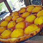 recette Tarte à la pêches au citron