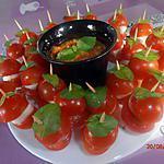 recette farandole italienne, sauce au basilic (apéro en plein air)