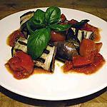 """recette Rouleaux d'aubergines """"à la Parmigiana"""" recette très légère."""